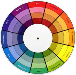 """некоторы дизайнеры используют вот такие """"цветовые колеса"""""""